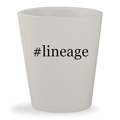 Price comparison product image #lineage - White Hashtag Ceramic 1.5oz Shot Glass