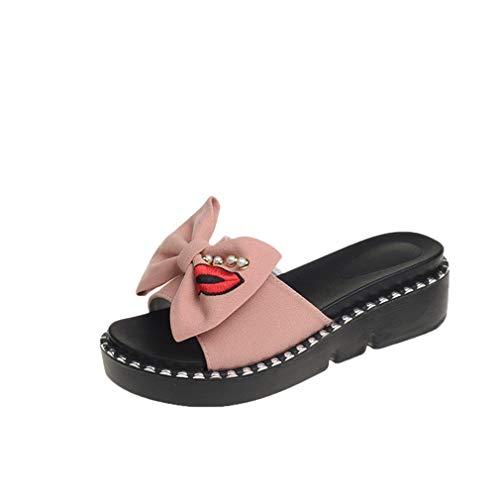 YUCH À Épais Sandales Pink Talons pour Femmes r50raxwt