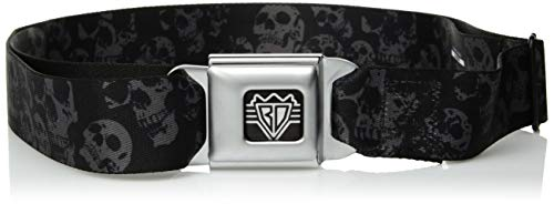 Buckle-Down Seatbelt Belt - Skulls Stacked Weathered Black/Gray - 1.0
