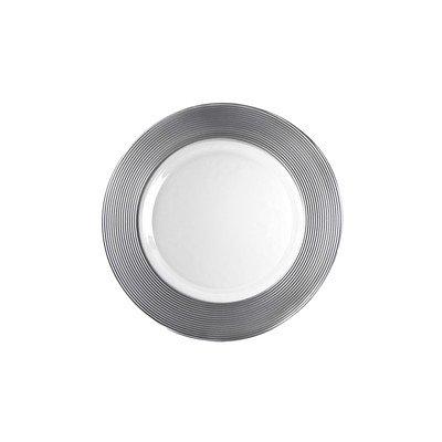 - Ten Strawberry Street Saturn Silver Matte - 8 Inch Salad-Dessert Plate - Set Of 6