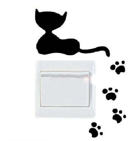 Vinilo decorativo pegatina pared, cristal, puerta (Varios colores a elegir)-gatos