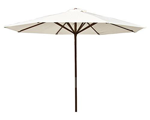 Heininger 1289 DestinationGear Classic Wood Natural 9' Market - Umbrella 9 Wood
