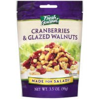 Fresh Gourmet Cranberries & Glazed Walnuts, 3.5 oz
