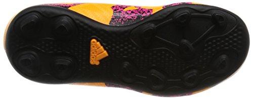 adidas X 15.4 Fxg J, Scarpe da Calcio Unisex-Bambini, Giallo (Solar Gold/Core Black/Shock Pink), 37 1/3 EU