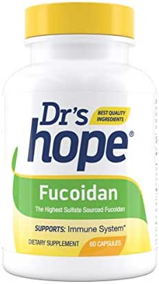 Dr's Hope Fucoidan Supplement(Brown Seaweed Extract) 85% Highest Sulfate Amount - Supports Immune System and Antioxidant Health - Vegan, No Artificial Additives, 60 Veggie Caps - Made in USA