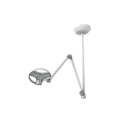 Waldmann Lighting Visiano D15594000 LED Medical Examination Light with Articulating Arm, Dimming and Color Control, Ceiling Mount