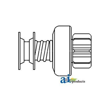Starter Shaft Drive (1909771 Starter Drive-9 Tooth w/ Extended Shaft Fits John Deere B & 50)