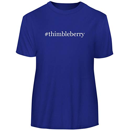 One Legging it Around #Thimbleberry - Hashtag Men's Funny Soft Adult Tee T-Shirt, Blue, Large