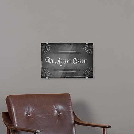 Chalk Corner Premium Brushed Aluminum Sign 5-Pack CGSignLab 27x18 We Accept Credit