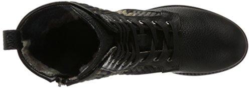 Bogner Damen New Meribel II 2a Biker Boots Mehrfarbig (Black/Camouflage)
