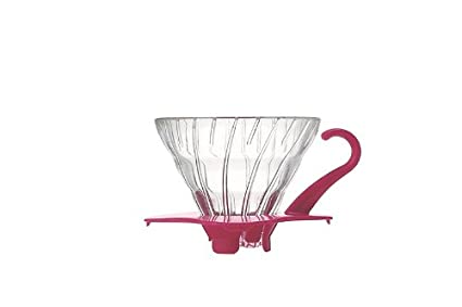Hario V60 Glass Coffee Dripper (Size 01, Pink)