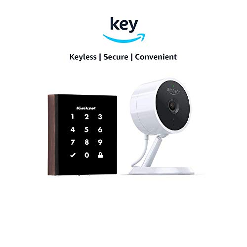 Kwikset Obsidian Keyless Touchscreen Electronic Deadbolt + Amazon Cloud Cam | Key Smart Lock Kit (Venetian Bronze)
