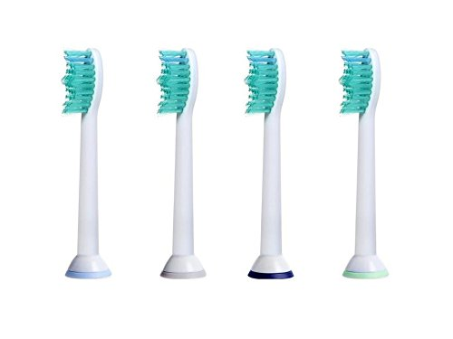 iHealthia Replacement Toothbrush Heads for Sonicare Brush Heads Proresults HX6014, 4-pack, Fits Philips Sonicare DiamondClean Flexcare HealthyWhite Plaque Control Gum Health EasyClean