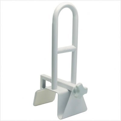 Secure BBTGB-1 Bathtub Grab Bar Bathroom Safety Rail, White - Durable Powder Coated Steel - No Tools Required