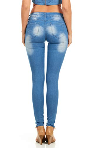 81f10b684f6 Cover Girl Women s Butt Lifting Skinny Jeans Fade Washed Junior or Plus