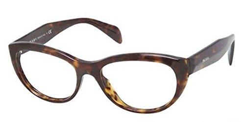 PRADA Monture lunettes de vue PR 01QV 2AU1O1 La Havane 50MM