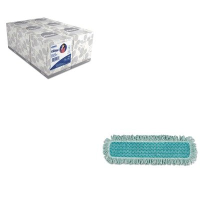KITKIM21271RCPQ42600GR00 - Value Kit - RUBBERMAID COMMERCIAL PROD. HYGEN Microfiber Fringed Dust Mop Pad (RCPQ42600GR00) and KIMBERLY CLARK KLEENEX White Facial Tissue (KIM21271) by Unknown