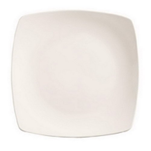 (Libbey World Tableware Porcelain Square Plate Bright White, 12