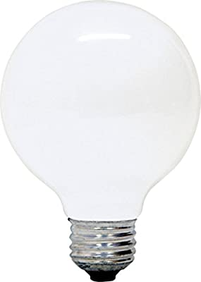 GE Soft White Decorative 60W Incandescent G25 Globe Light Bulbs, 1.4 Year Life, 8 Pack (60 Watts)