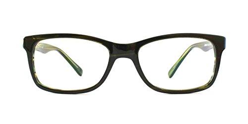 Pixel Eyewear Designer Computer Glasses with Anti-Blue Light Tint UV Protection, Anti-Glare, Full Rim, Acetate Frame Green Emerald Color - Lepo - Eyewear Lightweight