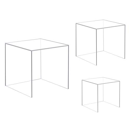 CRUODA Acrylic Display Case,3x3x3&4x4x4&5x5x5, 3pc, for sale  Delivered anywhere in USA