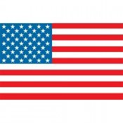 Motorcycle American Flag - Parade - 10in. x (Pro Pad Inc)