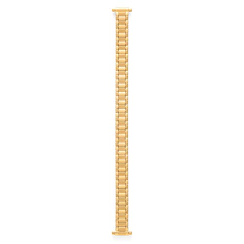 Speidel Ladies Twist-O-Flex Expansion Replacement Watch Band Gold Tone Curved End 10-14mm ()