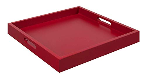 Convenience Concepts Palm Beach Serving Tray, Red (Tray Red)
