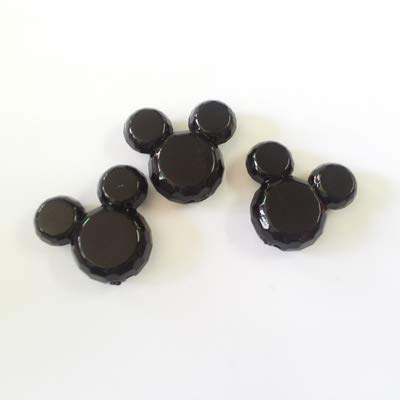 - Calvas (Choose Color First) 34mm37mm 50pcs/lot Acrylic Solid Mouse Beads for Chunky Necklace Making - (Color: Black)