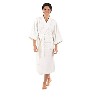 Terry Cloth Bathrobe Robe for Women Best Christmas Gifts for Her Holiday Xmas Gift Ideas - Women's 0050 S/M, Natural White