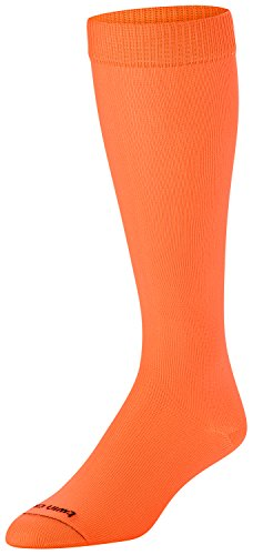 TCK Sports Krazisox Neon Over the Calf Socks, Neon Orange, -