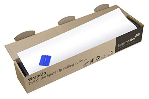 Legamaster 7-106203 Wrap-Up Magnetic Whiteboard Film for Continuous Writing Surfaces in XL Format Self-Adhesive 3 m x 101 cm