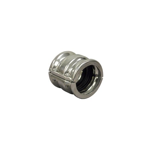 688 Series Grip Pipe Coupling, Zinc Plated Assembly with Silicone and Stainless Steel Rings Cadmium Bolts, 3