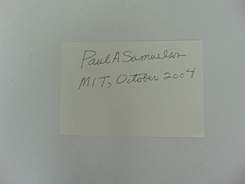 """Nobel Prize in Economics"" Paul Samuelson Hand Signed 6X4 Card Todd Mueller COA from Unknown"