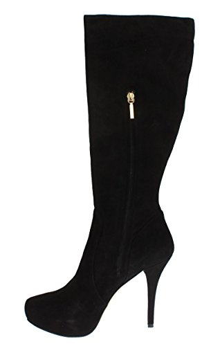 Boots Suede Calf amp; Mid Gabbana Black Heels Dolce w7nCxC4