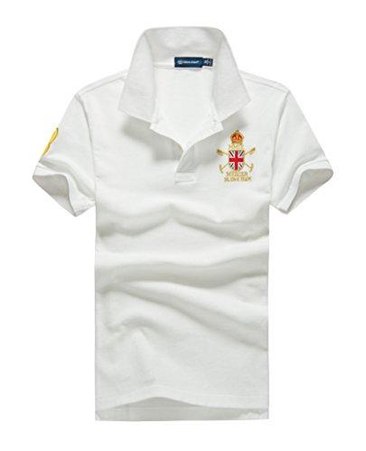 (シンアンドケン) sin&ken ポロシャツ メンズ シャツ 半袖 ポロ ゴルフウェア トップス 2XL ホワイト [並行輸入品]