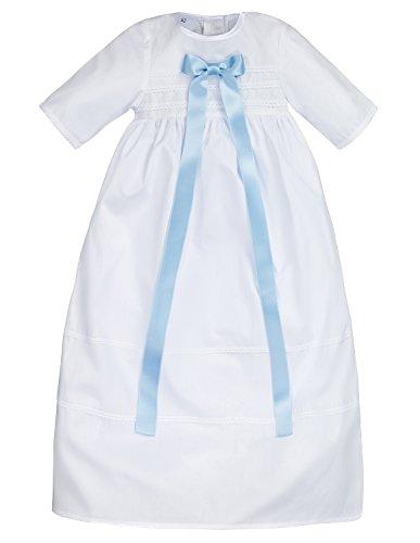 Bateo Design Baby doopjurk van Simon katoen met strik lichtblauw