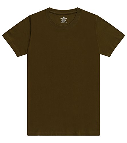 Crew Love Relaxed T-shirt (Parvenza Men's 7.8oz/220g Heavy Cotton Solid Color Basic T-Shirt Tagless Designs Crew Neck Jerseys T00024(2XL))