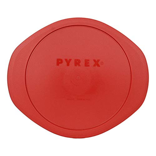 2 Quart Replacement - Pyrex 024-PC 2 Quart Round Red Plastic Lid Cover Replacement for Glass Dish