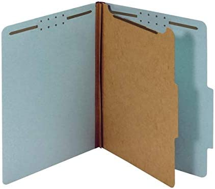 OD23730R Light Blue 100/% Recycled 10 pk Letter Size Office Depot Pressboard Classification Folders with Fasteners