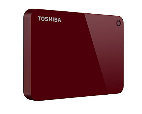 Toshiba HDTC910XR3AA Canvio Advance 1TB Portable External Hard Drive USB 3.0, Red