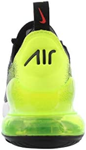 31lETdo2aDL. AC Nike Mens Air Max 270 SE Running Shoes    Nike makes continuous effort to find the key to unlocking our potential and reveling the maximum effect of every step we take. The new Nike Air Max 270 Se (AQ9164-005) are here in a new all black colorway to help you achieve maximum effect with the most effortless flow. Drawing inspiration from the Air Max 180 from ?91, these pumped up kicks have taken to the new school and made a place for themselves in the Air Max lineage with a stand-out silhouette and bold colorways that make you feel refreshed and energized enough to take on the world. The stretchy zoned mesh was engineered to provide flexible structure for resilient dependable shoes that feel just as comfortable as they look. The asymmetrical lacing systems and neoprene bootie construction gives a snug locked down fit that is cohesive with a 3-piece midsole and heel counter combo for buttery smooth transitions between the heel and toe.