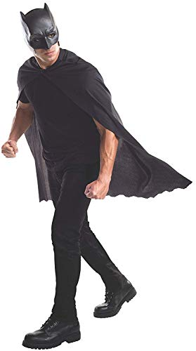 Rubie's Batman Adult Mask (Cape & Mask, Black) (Black Bat Mask)