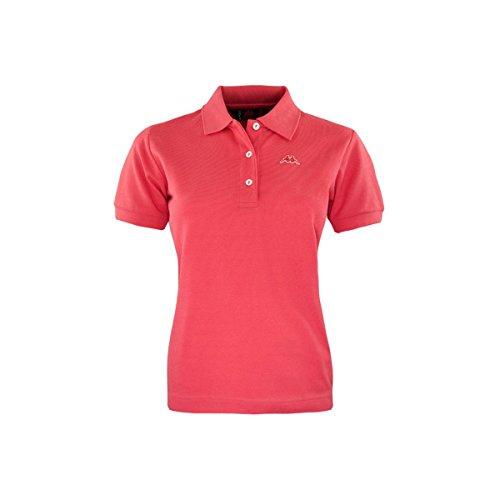 Robe Di Kappa - Polo T-Shirt Maglia Donna Piquet Stretch Mare Sport Art. Golovin RED GERANIO