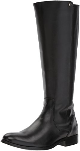 FRYE Women's Melissa Stud Back Zip Riding Boot, Black, 7.5 M US Zip Knee Boot