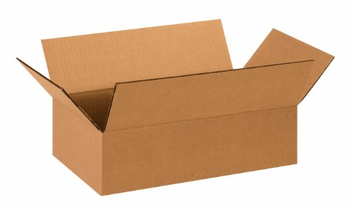 "Aviditi 1484 Corrugated Box, 14"" Length x 8"" Width x 4"" Height, Kraft (Bundle of 25) from Aviditi"