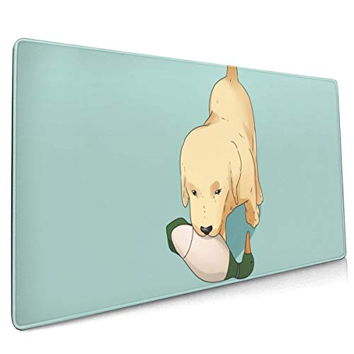 (Golden Retriever Dog Mouse Pad Non-Slip Rubber Mouse Mat, Non-Slip Rubber Base Mousepad for Computer Space Decor Computer Accessories 16x36 Inches)