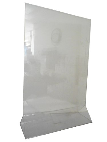 Marketing Holders Sign Holder 11 x 17 Clear Acrylic Table Tent sold by case (10 pcs) by Marketing Holders
