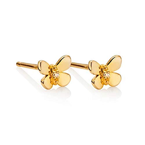 - Molly B London | Hypoallergenic 18ct Gold Vermeil Butterfly Earrings
