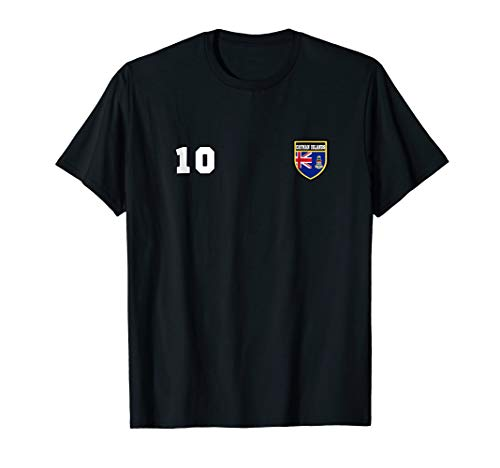 (Cayman Islands T-shirt Number 10 Soccer Tee Flag Football)